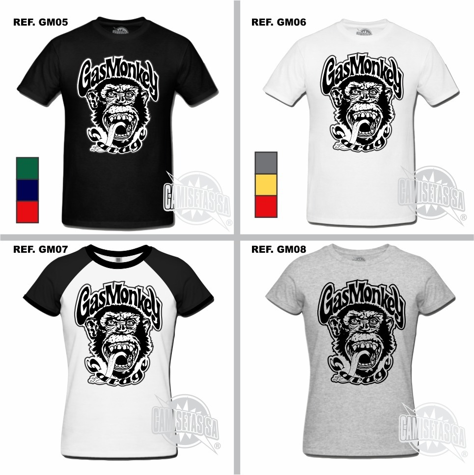 1ad76368e camiseta gas monkey garage dallas texas camisa dupla barulho. Carregando  zoom.