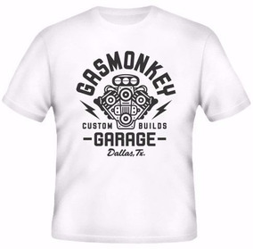 704df9d23 Camiseta Gas Monkey Garage - Camisetas Masculino no Mercado Livre Brasil