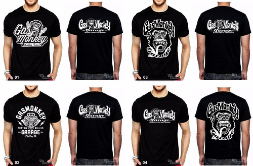 camiseta, gas monkey, garage, harley, davidson, motoclub
