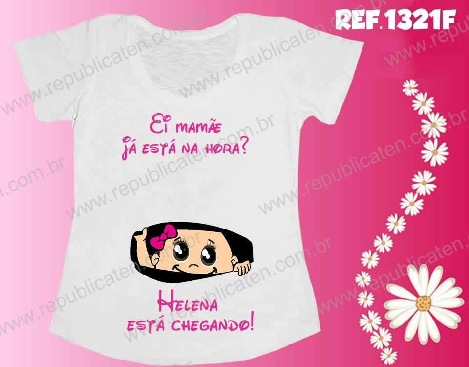 Camiseta Gestante Bebê Espiando Barriga Menina Chá De Bebê R 39