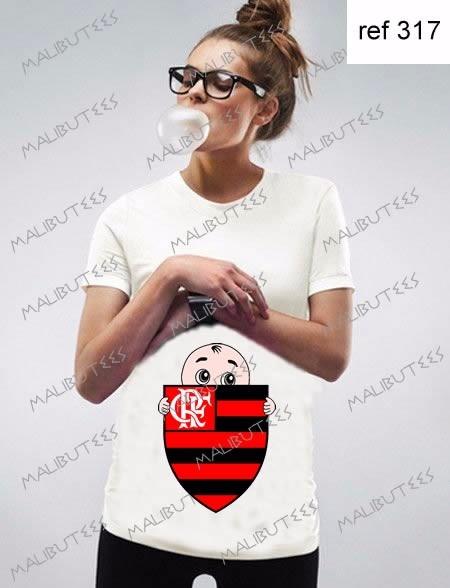 2c7eb82f94 Camiseta Gestante Bebê Flamengo Herois Time Gravida - R  39
