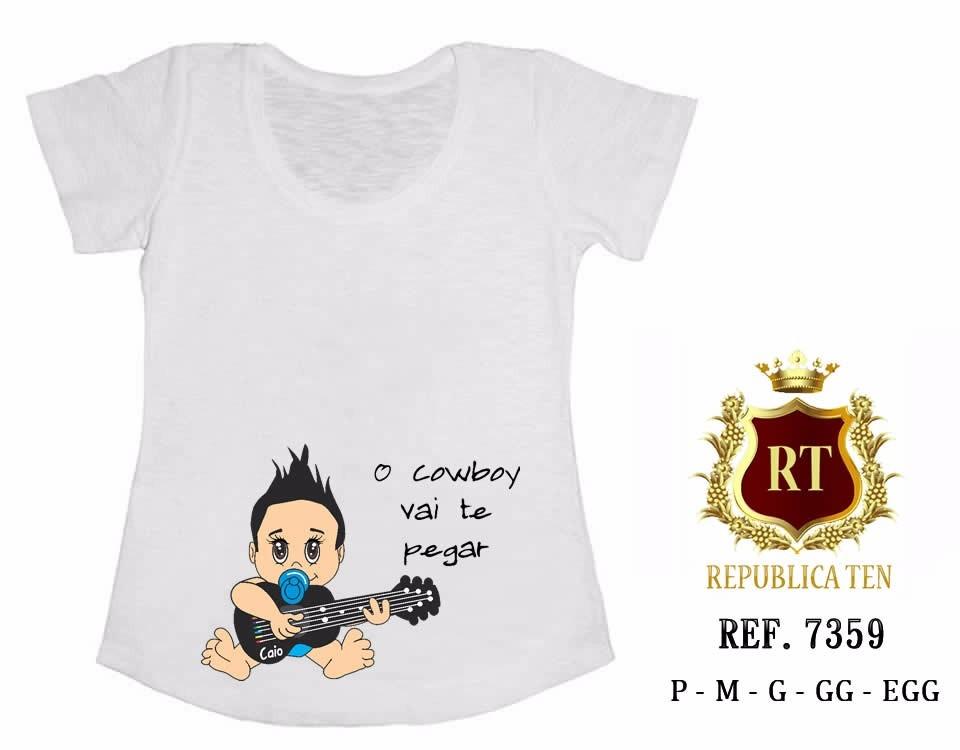 Camiseta Gestante Bebê Na Barriga Violão E Chupeta T Shirt R 39