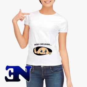41698752e Camisa Gestante Criativas no Mercado Livre Brasil