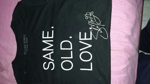 camiseta gira revival selena gomez negra xl entallada