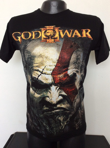 camiseta god of war kratos juegos rock metal anime comics
