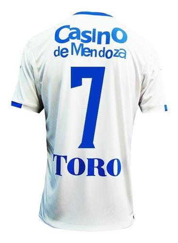 camiseta godoy cruz kelme suplente 2018 + 2 numeros