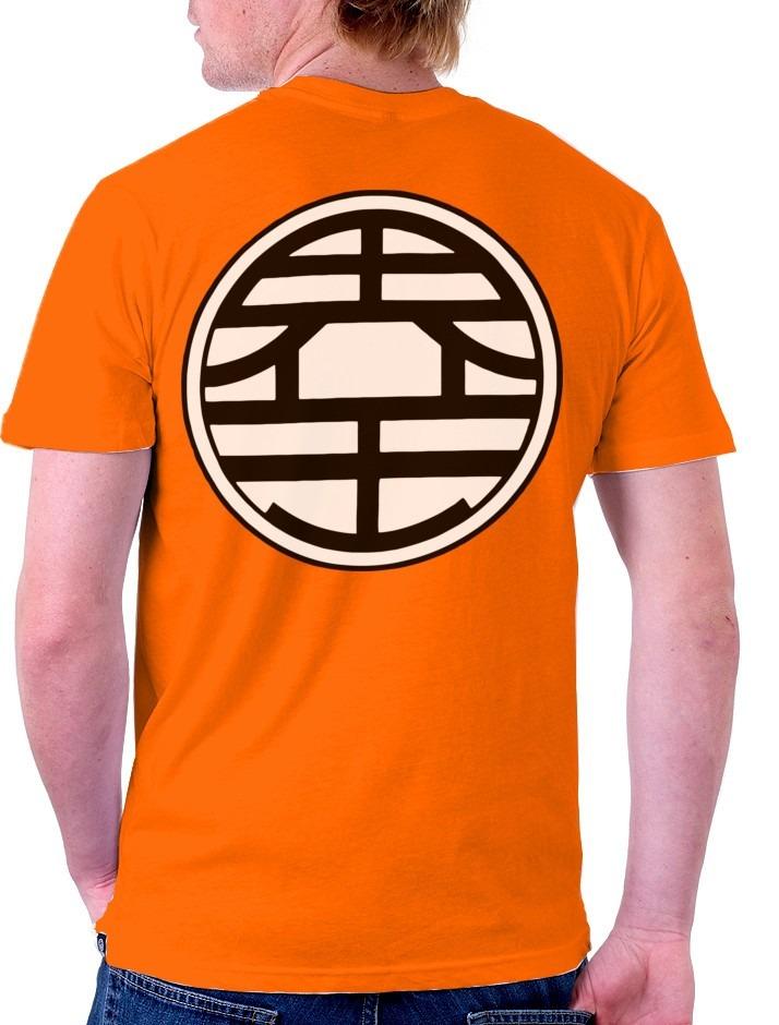 b1fd9a22c camiseta goku dragon ball z traje kaio simbolo costas frente. Carregando  zoom.