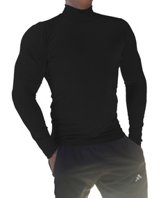 a60f582fd Blusa Gola Alta Manga Comprida Masculina Segunda Pele Preto