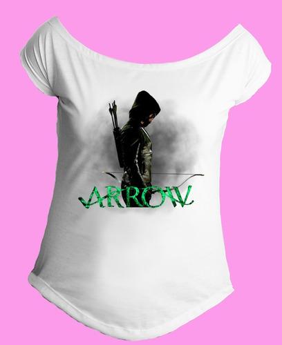 camiseta gola canoa arqueiro verde arrow serie oliver 02