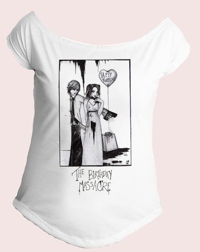 camiseta gola canoa feminina banda the birthday massacre 01