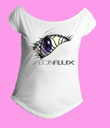 camiseta gola canoa feminina æon aeon flux 01