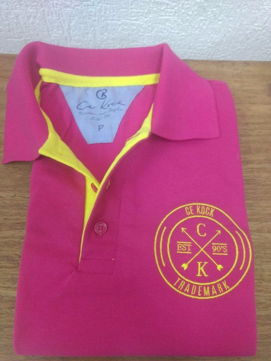 0d5aeeef1d camiseta gola polo brasão pink masculina piquet cekock. Carregando zoom.