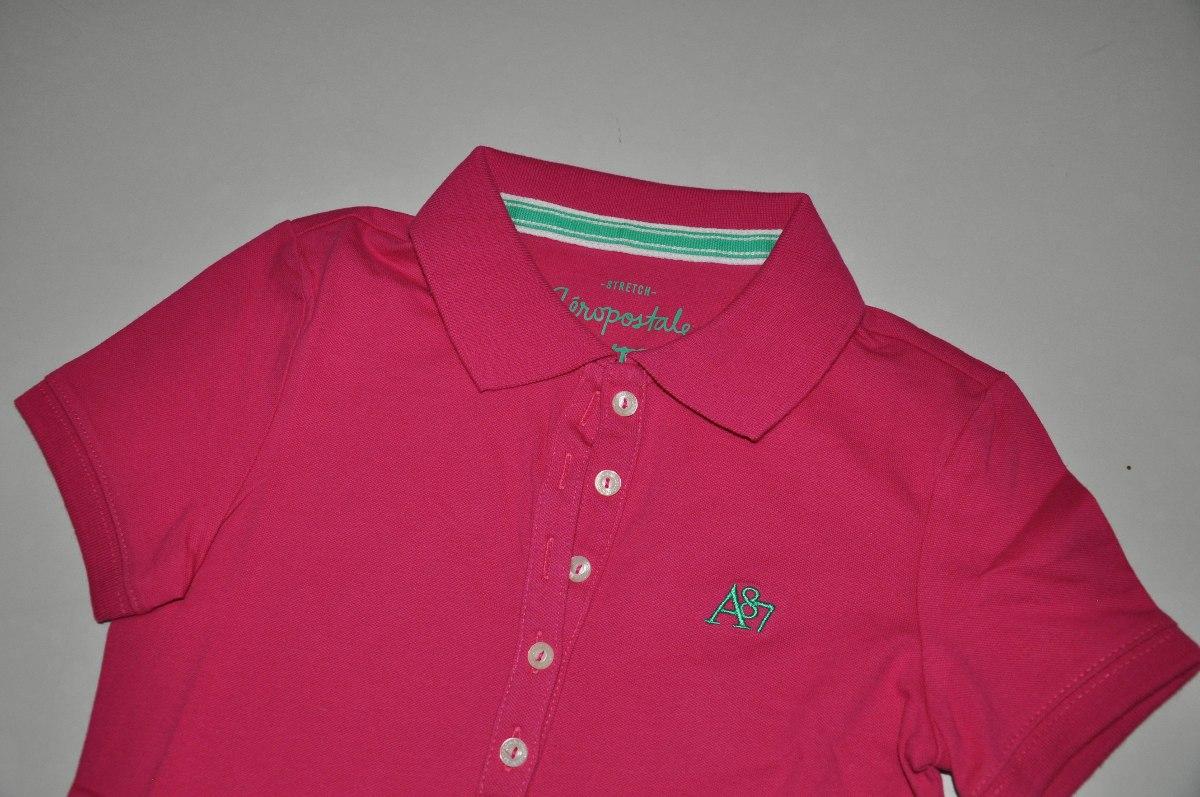 camiseta gola polo feminina aéropostale - cores - original. Carregando zoom. c9af7280fe5e6