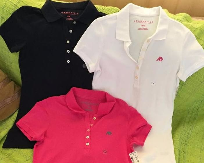 Camiseta Gola Polo Feminina Aéropostale - Original U S A - R  79 c3bdf27571c14