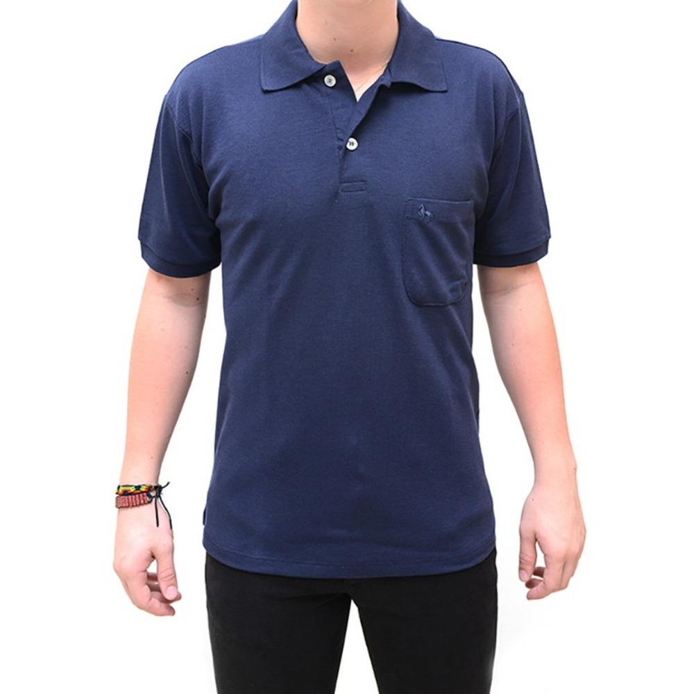 49afecde9b6f6 camiseta gola polo kalanui azul marinho. Carregando zoom.