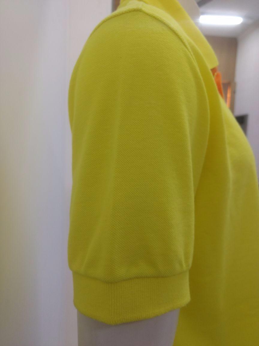 01e5ef8c56 camiseta gola polo masculina brasão amarelo piquet cekock. Carregando zoom.
