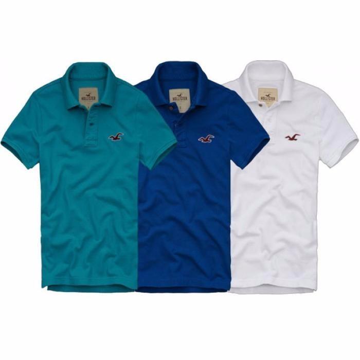 2c9c809c7c Camiseta Gola Polo Masculina Hollister - R  47