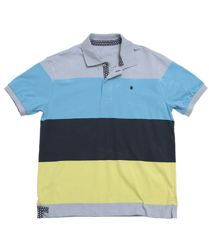 camiseta gola polo masculina listrada 100% algodão - mpollo. Carregando zoom . 7a7687c81169d