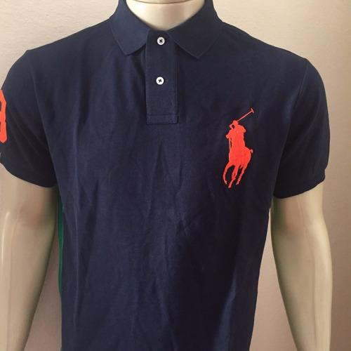 camiseta gola polo ralph lauren custom fit big pony original
