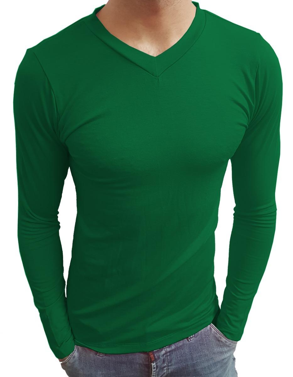 5c071cd7d4 camiseta gola v masculina slim fit moda casual segunda pele. Carregando zoom .