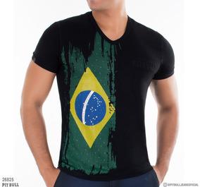 c3bfc6b395 Camiseta Pit Bull Jeans Masculina - Calçados