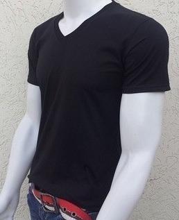 Camiseta Gola V - Rasa - R  13 82f794a9d1a