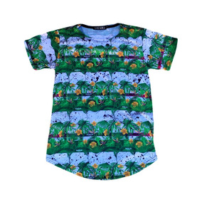 1a6366077b Camiseta Gold Kings Masculinas Longline Floral Flores R  65