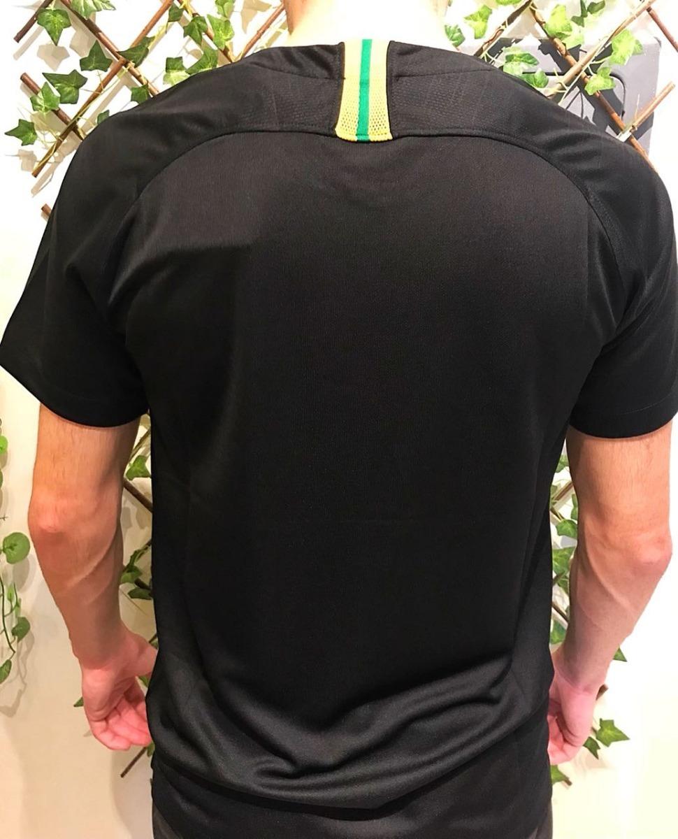 camiseta goleiro brasil preta copa do mundo da russia 2018. Carregando zoom. 4951f8d266963