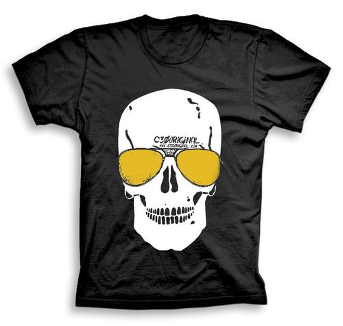 camiseta google skull - shopfire ®
