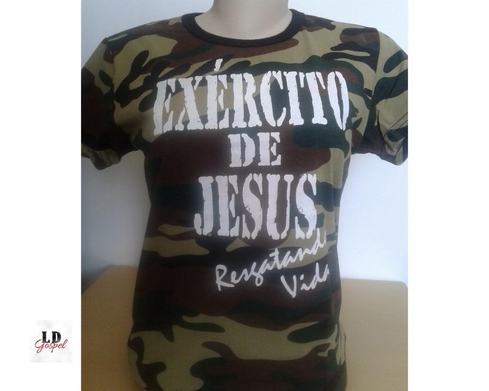 0c54849d3 camiseta gospel feminina (baby look) exército de jesus. Carregando zoom.