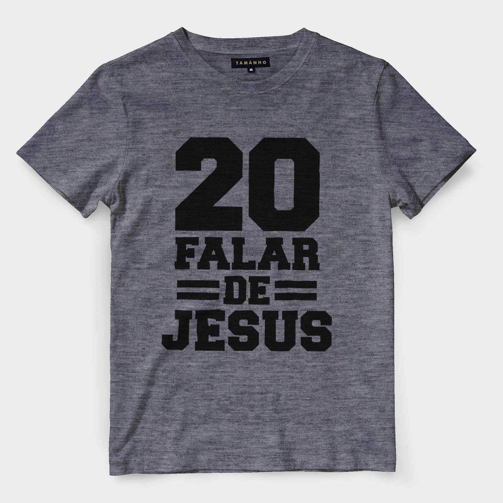 Camiseta Gospel Religiosa Evangelica Falar De Jesus Camisa B - R  35 ... aadd4aa3006