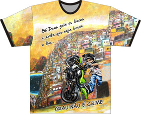 661b00e9f Camiseta Grau Moto - Camisetas Masculino Manga Curta no Mercado Livre Brasil