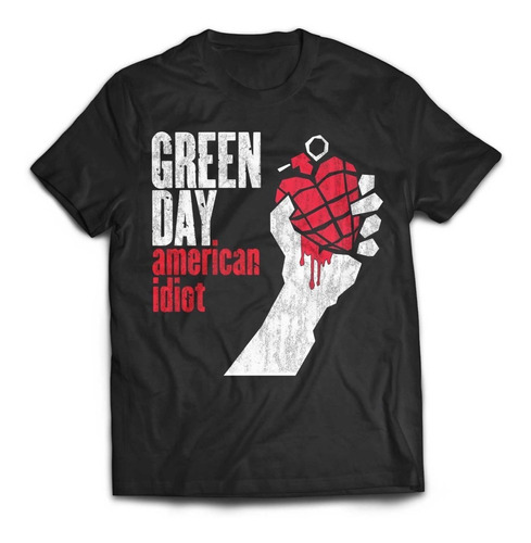 camiseta green day american idiot rock activity