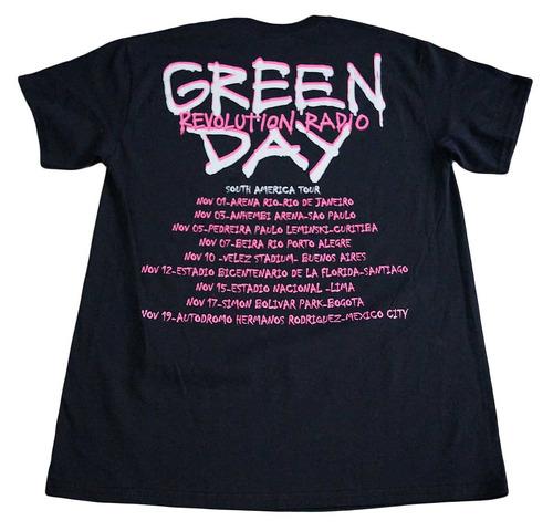 camiseta green day rock activity importada talla m