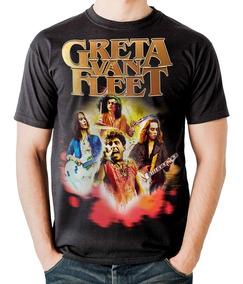 8c3a0b1fd0abc5 Camiseta Greta Van Fleet Lollapalloza Brasil Stamp For All