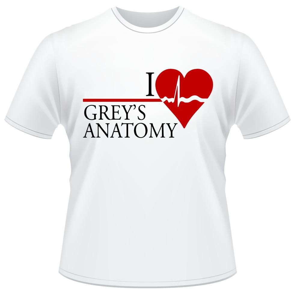 Camiseta Grey\'s Anatomy Série Camisa I Love Eu Amo - R$ 39,89 em ...