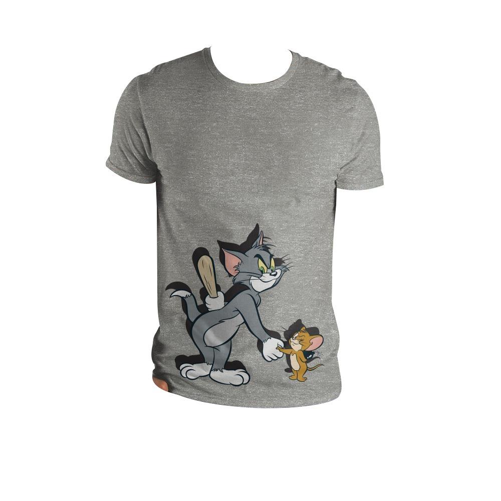5c93f7d29 Camiseta Gris Tom And Jerry -   54.900 en Mercado Libre