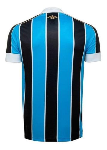 camiseta grêmio infantil umbro oficial 1 2019 tricolor