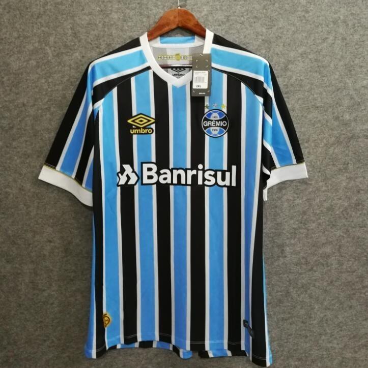 Camiseta Grêmio Masculina Umbro Oficial 2018 Fan Tricolor - R  129 ... 6073454dc3d33