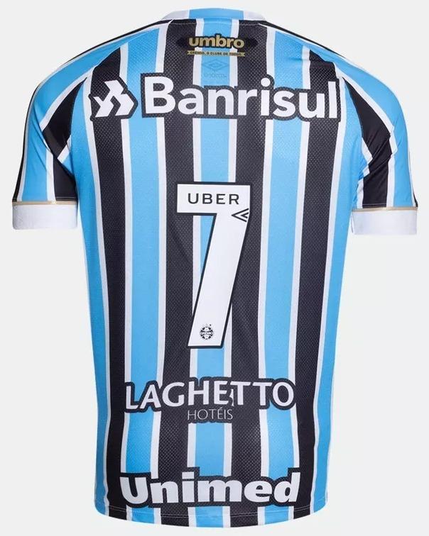 Camiseta Grêmio Umbro Oficial Masculina 2018 19 Com Número - R  259 ... 25087cb9c9f59
