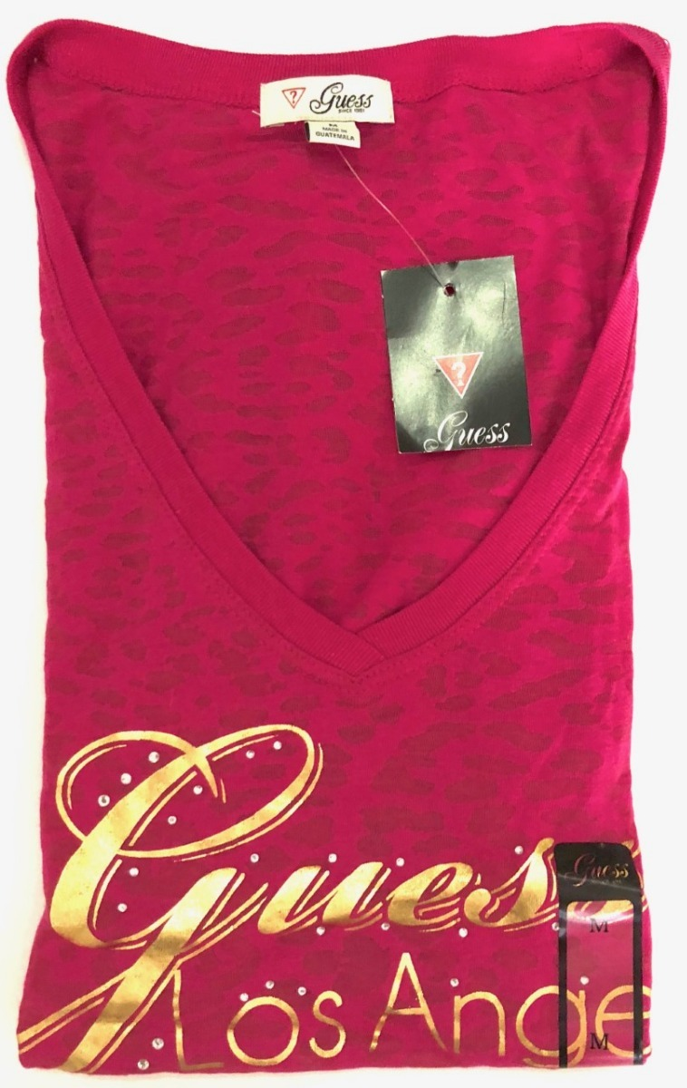 6dcd513bd9ed3 camiseta guess los angeles rosa m. Carregando zoom.