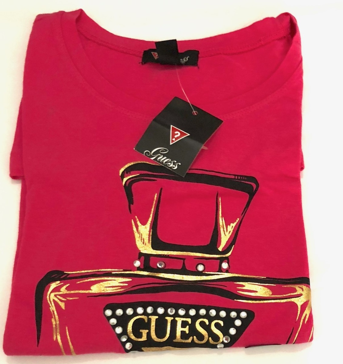 5664df2e2b71c camiseta guess pink los angeles p. Carregando zoom.