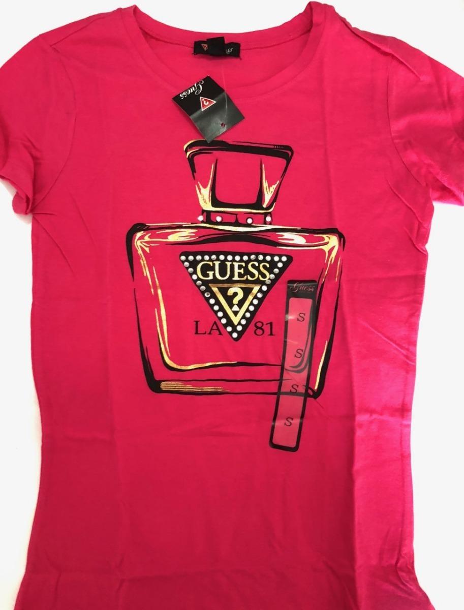 100% de satisfacción los más valorados grande descuento venta Camiseta Guess Pink Los Angeles P