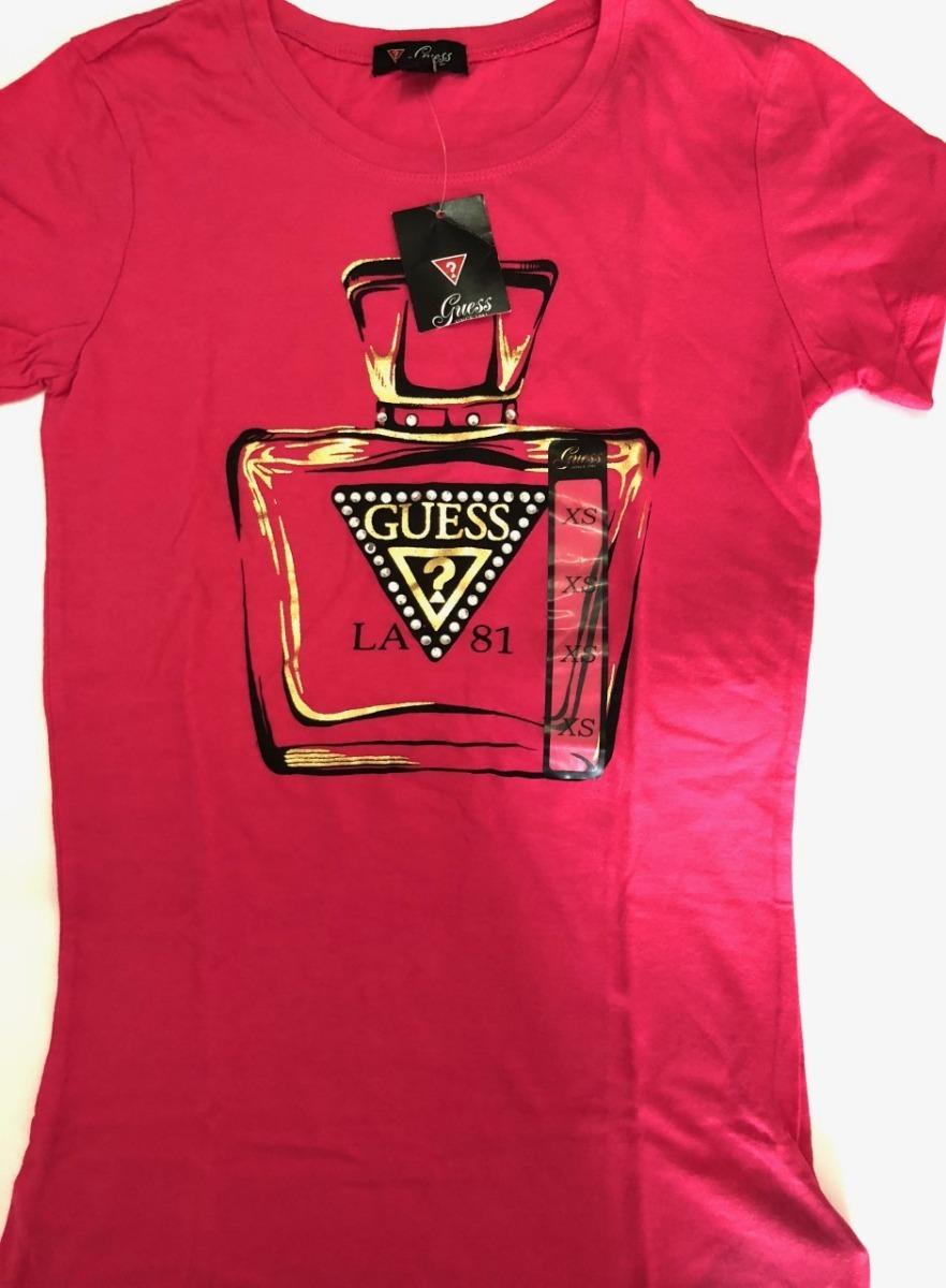 Estados Unidos precio bajo boutique de salida Camiseta Guess Pink Los Angeles Xs