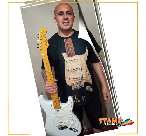 camiseta guitarra fender dave murray eric clapton gilmour