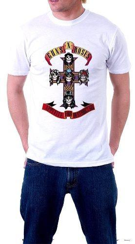 camiseta guns n roses axel rose slash rock banda camisa 3
