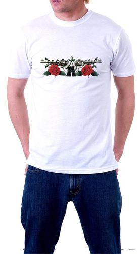 camiseta guns n roses axel rose slash rock banda camisa 4