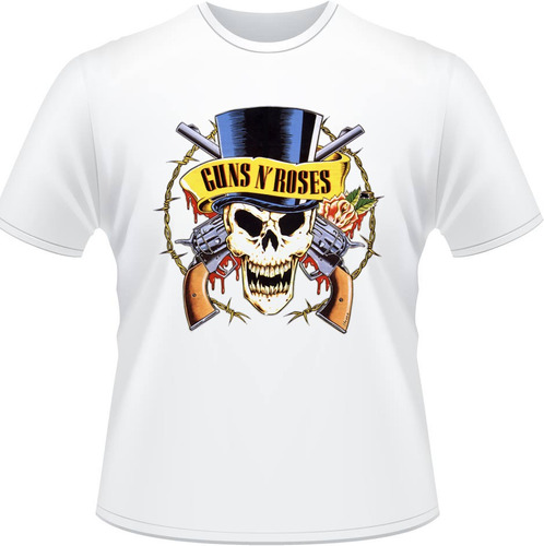 camiseta guns n roses axel rose slash rock banda camisa