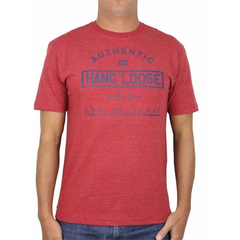 9ee7bfb101 camiseta hang loose classic hls vermelho mescla. Carregando zoom.
