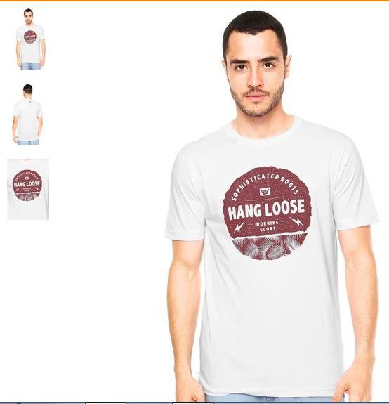 e78ce251e79c9 Camiseta Hang Loose Flash Branca - R  67